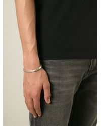 All_blues - Metallic Flat Open Curved Bangle for Men - Lyst