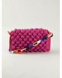M Missoni - Pink Bouclé-Knit Shoulder Bag - Lyst