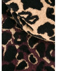 Lanvin - Black Leopard Scarf - Lyst