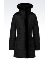 Armani Jeans | Black Down Jacket In Technical Fabric | Lyst