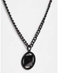ASOS | Geo Pendant In Black for Men | Lyst