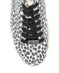 Liu Jo   Black 'celie' Low Sneaker   Lyst