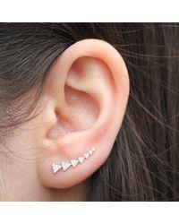 Anne Sisteron - 14kt White Gold Diamond Triangle Ear Cuff - Lyst