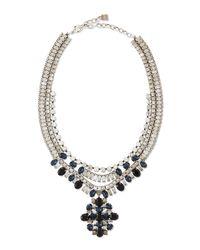 DANNIJO - Blue Mikhail Jet Crystal Necklace - Lyst