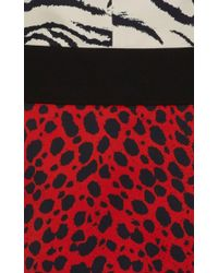 Fausto Puglisi - Black Sleeveless Printed Dress - Lyst