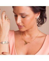 Anna Byers - Metallic Heron Necklace Gold - Lyst
