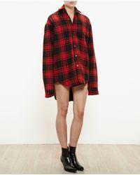 Vetements - Black Checked Wool Shirt - Lyst