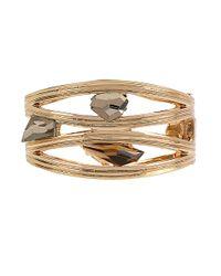 Robert Lee Morris | Brown Faceted Stone Bangle Bracelet | Lyst