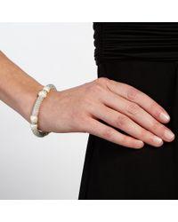 John Lewis | Metallic Faux Pearl And Diamante Stretch Bracelet | Lyst