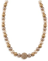 Carolee | Metallic Gold Glass Pearl And Fireball | Lyst
