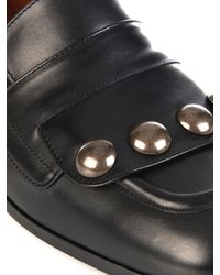 Tomas Maier - Black Studded Leather Loafers - Lyst