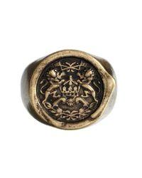 ASOS | Metallic Ring with Wax Seal for Men | Lyst