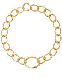 Dinny Hall - Metallic Gold Vermeil Wave Large Link Necklace - Lyst