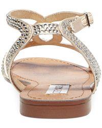 Steve Madden - Metallic Women'S Starrz Flat Sandals - Lyst
