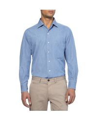 Loro Piana | Blue Washeddenim Shirt for Men | Lyst