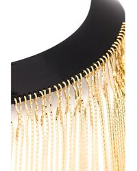 Balmain - Metallic Fringe-front Necklace - Lyst