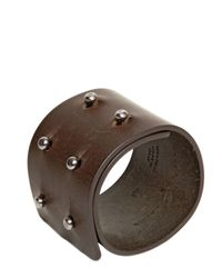 Rick Owens | Brown Leather Cuff Bracelet for Men | Lyst