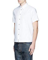 DSquared² - White 'wild2 Ride' Print Collar Shirt for Men - Lyst