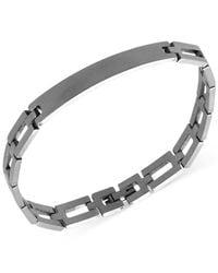 Marc Ecko | Metallic Men'S Stainless Steel Square Link Id Bracelet for Men | Lyst
