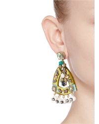 J.Crew | Multicolor Lucite-and-crystal Earrings | Lyst
