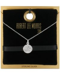 Robert Lee Morris - Metallic Robert Lee Morris Silver-tone Initial Pendant Necklace - Lyst