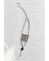 Vanessa Mooney - Metallic Viviane Silver Ladder Necklace - Lyst