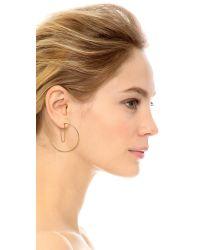 Gorjana | Metallic Cameron Layered Hoop Earrings | Lyst