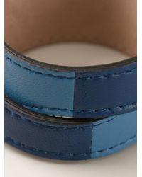 Alexander McQueen - Blue Double Wrap Skull Bracelet - Lyst
