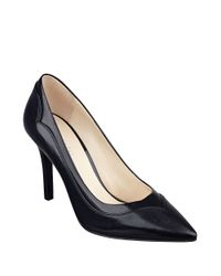Nine West | Black Jet Plane Leather Pumps | Lyst