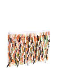 Berry - Multicolor Sequin Fringe Clutch - Metallic - Lyst