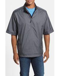Cutter & Buck | Black 'owen - Windtec' Short Sleeve Water & Wind Resistant Half Zip Jacket for Men | Lyst