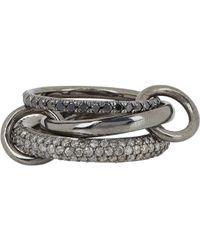 Spinelli Kilcollin - Metallic Solaris Gris Pave Noir Ring - Lyst