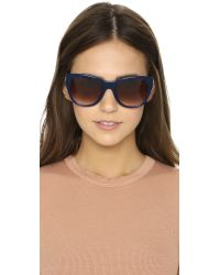Thierry Lasry - Blue Strippy Sunglasses - Green/brown Gradient - Lyst