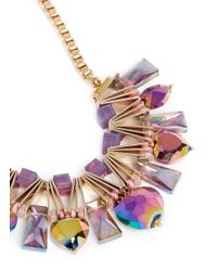Scho | Multicolor Electroplate Crystal Necklace | Lyst