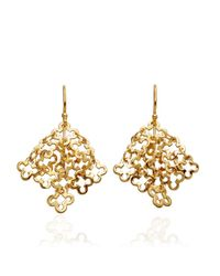 Dinny Hall - Metallic Talitha Motif Earrings - Lyst