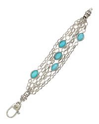 Lagos - Blue Venus Layered Crystal Turquoise Doublet Chain Bracelet - Lyst