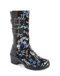 Alegria | Black Erica Floral-Print Rainboots  | Lyst