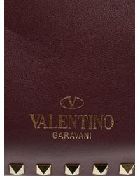 Valentino - Purple The Rockstud Medium Tote - Lyst