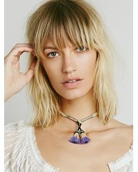 Free People | Purple Mini Horsehair Choker | Lyst