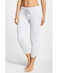 Hard Tail - Gray Side Ruched Capris - Lyst