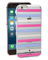 kate spade new york 'watch Hill Stripe' Iphone 6 & 6s Case - Metallic