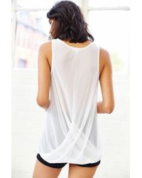 Silence + Noise - White Silence + Noise Twist-Front Tank Top - Lyst