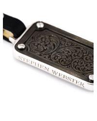 Stephen Webster | Green Baroque Patterned Dog Tag Pendant Necklace for Men | Lyst