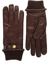 Paul Smith | Brown Ribbed-cuff Leather Gloves for Men | Lyst