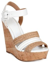Charles by Charles David | Brown Renata Braided Platform Wedge Sandals | Lyst