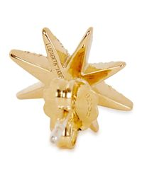 Elizabeth and James - Metallic Compass Gold-plated Topaz Stud Earrings - Lyst