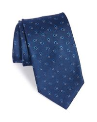 Saint Laurent - Blue Ring Loop Silk Tie for Men - Lyst