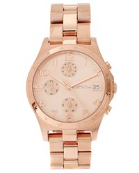Marc Jacobs | Pink Henry Rose Gold Chronograph Watch Mbm3074 | Lyst