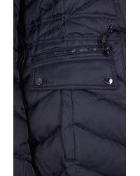 Dawn Levy | Blue Faux Fur Collar Jacker With Pockets | Lyst