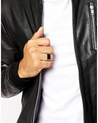 Seven London - Metallic Onyx Ring In Sterling Silver for Men - Lyst